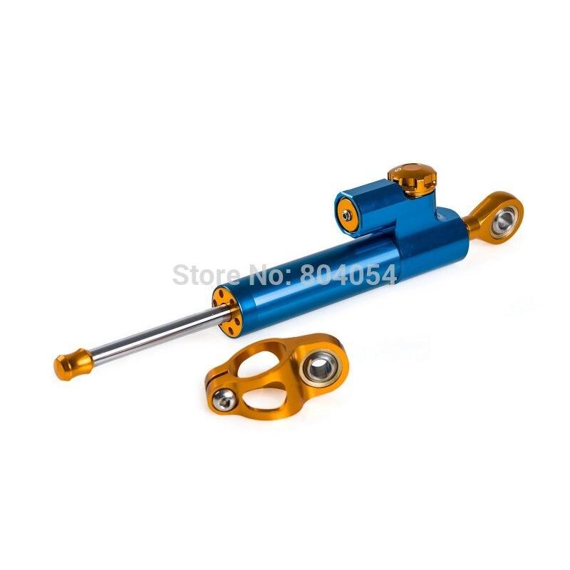 Blue Motorcycle Steering Damper Stabilizer For Yamaha Honda Suzuki Kawasaki KTM