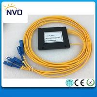 1*4 Fiber Optic PLC Splitter,ABS Package,dia:2.0mm,Length:1M,SC/UPC Fiber tool PLC SplitterOptical Fiber Branching Device