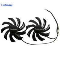 New 2pcs Lot PLD09210S12HH 85mm Sapphire HD6850 HD6970 HD7870 2G HD7950 HD7970 Graphics Cooler VGA