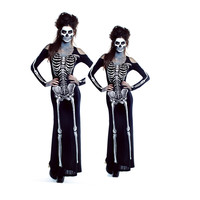 Halloween Zombie Costume Carnival Holidays Scary Bloody Horror Cosplay Fancy Dress Skeleton Costume A3013