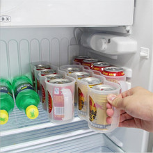 Home Refrigerator Storage Box Kitchen Accessories Coke Drink Can Space-saving Cans Finishing Frame 4 Storage Box Gadget