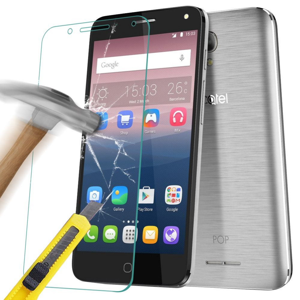 117ed42eabf02 Tempered Glass Film forr Alcatel One Touch Pop 4   4S   4 Plus 9H Premium  Explosion-proof Screen Film