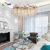 FUMAT American Country Chandelier Postmodern Hotel Duplex Floor Living Room Dining Room Bedroom Copper Creative