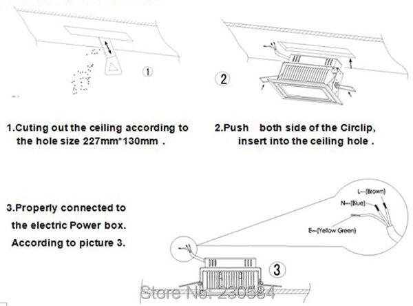 Белая отделка полный алюминий супер яркий 30 Вт 40 Вт 50 Вт Регулируемый потолочный светодиодный прямоугольный лампа для выставочного зала
