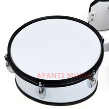 Afanti Music 5 PCS Silver Marching Drum MAD 105