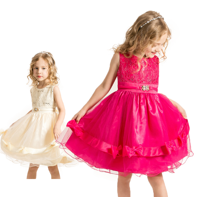 Summer Girls Princess Dress Girl Red Lace Tutu Bow Kids Dress Sleeveless Mesh Girl Party Dress Children Wedding Gown 3-8 Years 02023 clutch bell double gears 19t 24t for rc hsp 1 10th 4wd on road off road car truck silver