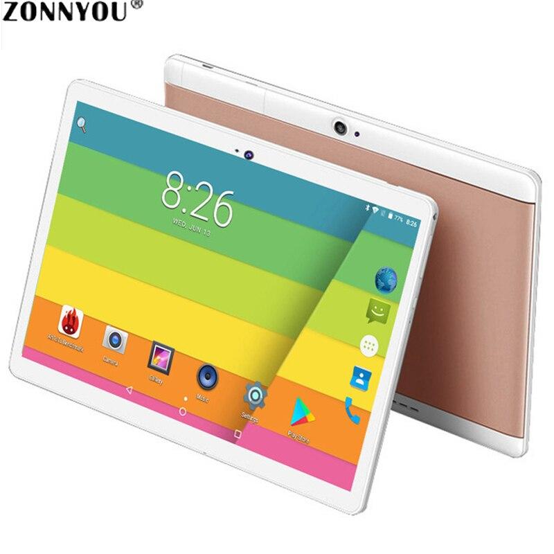 3G Appel Téléphonique Tablette 10.1 pouces 4 GB/32 GB Soutien google play Android 8.0 Octa base 1.5 GHz double SIM GPS OTG Avec En Cuir + Cas