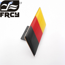 High Quality Germany Flag Car Front Grill Emblem Sticker Styling Grille Badge for VW Tiguan Golf Jetta polo audi a3 a4 a6 q3 q5
