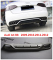 Автомобильный задний спойлер для Audi A4 B8 2009.2010.2011.2012 Высокое качество абсолютно новый ABS бампер диффузор авто аксессуары