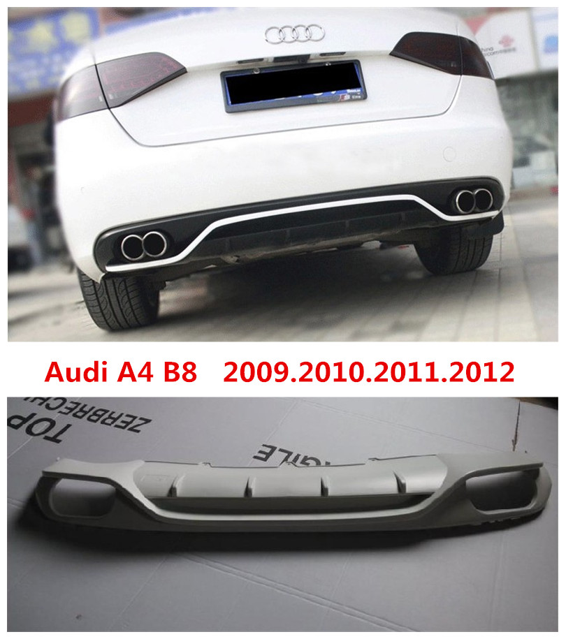 Car Rear Lip Spoiler For Audi A4 B8 2009.2010.2011.2012 High Quality Brand New ABS Bumper Diffuser Auto Accessories