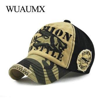 Wuaumx camuflaje gorra de béisbol del algodón curvado pico sombrero niño  verano hueso Snapback Cap Hip Hop chicos chicas casquette f1e914dcfe6