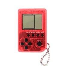 2PCS Mini Classic Tetris Handheld Game Console Childrens Games Machine Retro Nostalgic Keychain
