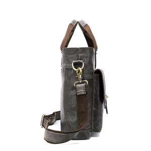 Image 4 - WESTAL Large Leather Briefcases Mens Genuine Leather Briefcase for Laptop 14 Messenger Bag Men Laptop Bags Office/Work Bag 8520