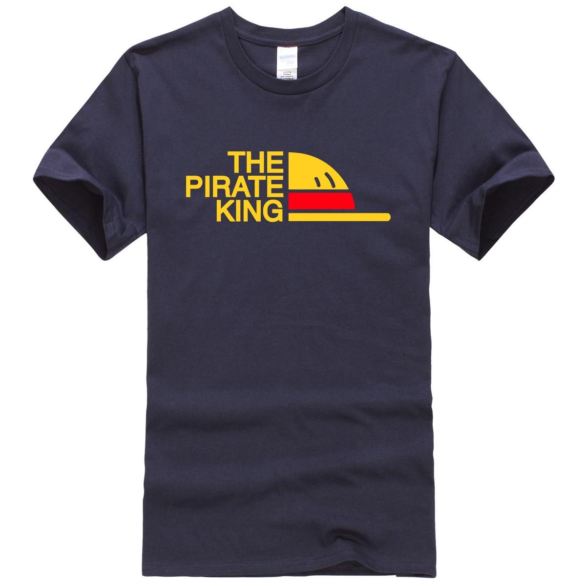 2019 été décontracté T-shirt hommes Anime une pièce homme T-shirt haut en coton le roi PIRATE Streetwear hommes T-shirts Harajuku T-shirt
