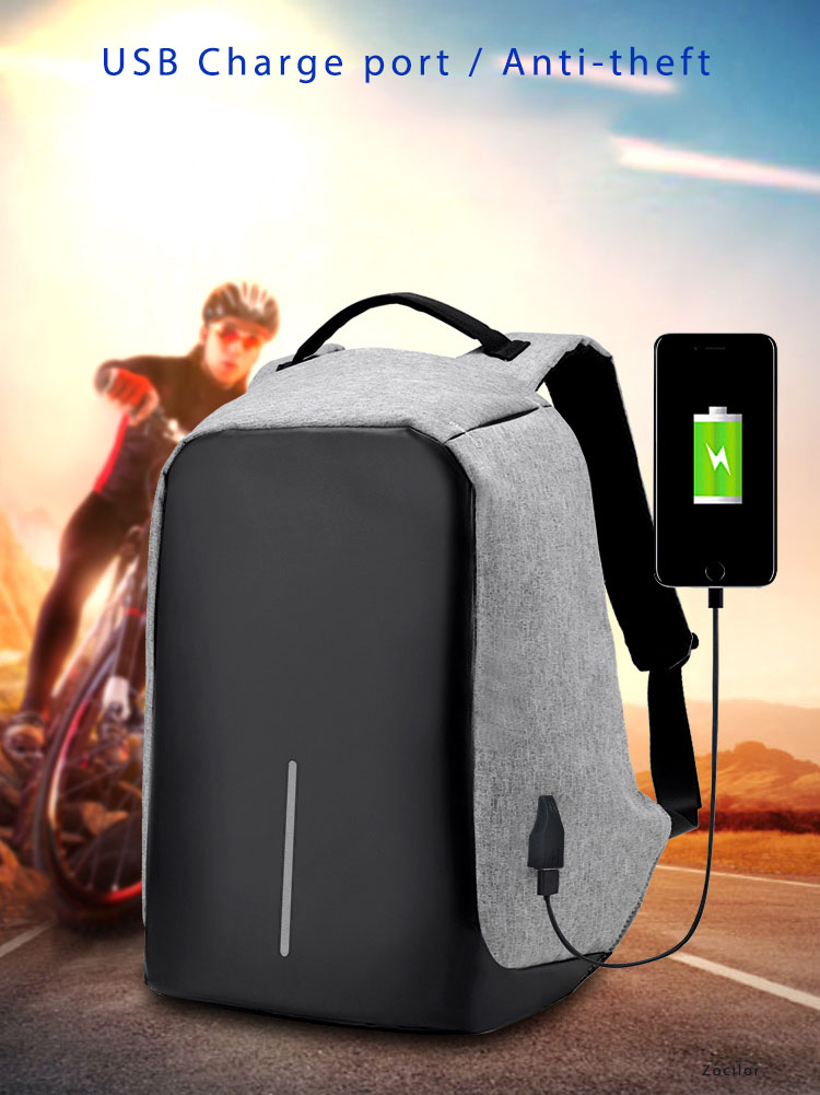 234579bde1f USB Charge Anti Theft Backpack for Men 15 inch Laptop Mens Backpacks ...