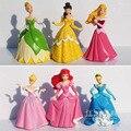 Disney Princesa Blancanieves Cenicienta El Ángel de La Flor de Dibujos Animados Anime PVC Figura de Acción de Colección Modelo de Juguete Muñecas 6 Unids/set