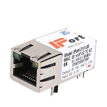 цена на Serial port to Ethernet module IPORT-3 TTL to RJ45 converter serial port device