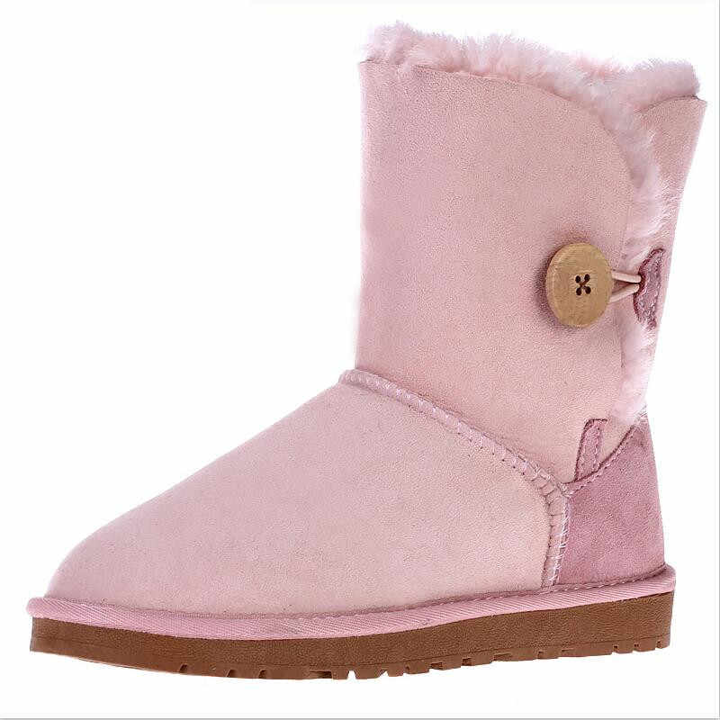 Gerçek koyun derisi kadın kar botları en kaliteli 2019 kadın kış klasik kar botları hakiki koyun derisi botları