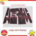 Estilo do carro Anti esteira do deslizamento adesivo pad ranhura portão porta tapete decoração de interiores para BYD F3 2014-2015 Não-slip Interior porta pad