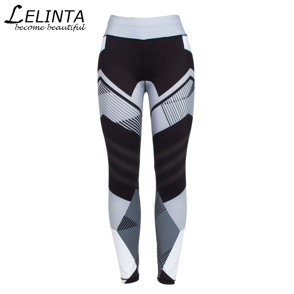 9fdf83584 LELINTA Women Sporting Leggings Print Patchwork Female Workout Fitness  Legging Pants Slim Wicking Force Exercise Clothes-in Yoga Pants from Sports  ...