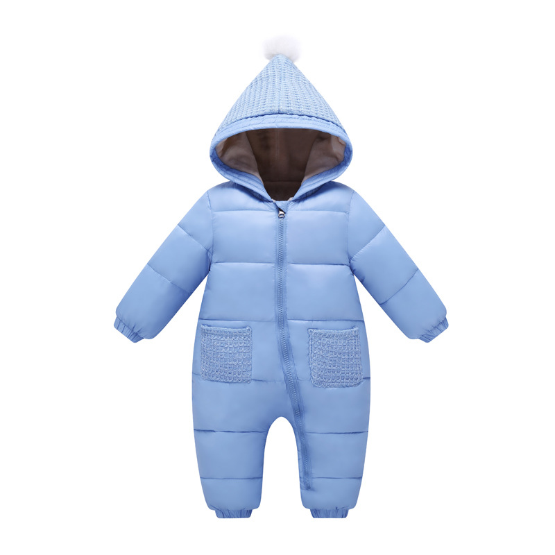 Baby Rompers Winter Baby Boy Snowsuit Romper Toddler Cotton One-piece Suit Infant Warm Hoody Jumpsuit Coverall For Newborn winter baby rompers organic cotton baby hooded snowsuit jumpsuit long sleeve thick warm baby girls boy romper newborn clothing