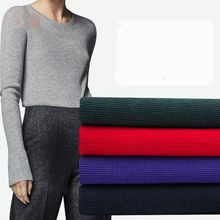 Xintianji High quality thick cotton spandex rib fabric 400gsm for Spring pullover stretchy very nice 50*135cm/piece K302876