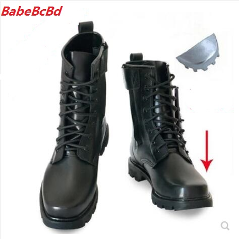 Winter And Autumn Men Woollen Boot Male Commando Single  Thickened Warm High Top Martin  Steel-tipped Cotton Combat Boot