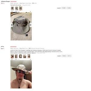 Image 5 - TACVASEN ordu erkekler taktik Sniper şapka balık kova şapka Boonie şapka yaz güneş koruma Safari kap askeri yürüyüş avcılık şapka kapaklar