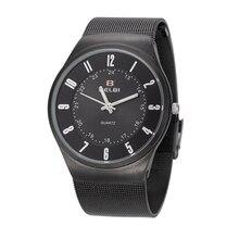 Horloges Mannen 2016 De Luxe Marque Hommes D'affaires Montres-bracelet Étanche Numérique Montres À Quartz-Montre Relogio Masculino Pour Belbi