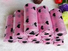 Pet Dog Poop Bag ,1 set include 4 roll (60pcs)  Dog Water Poop Bags and 1 Bone Dispenser Pet Products