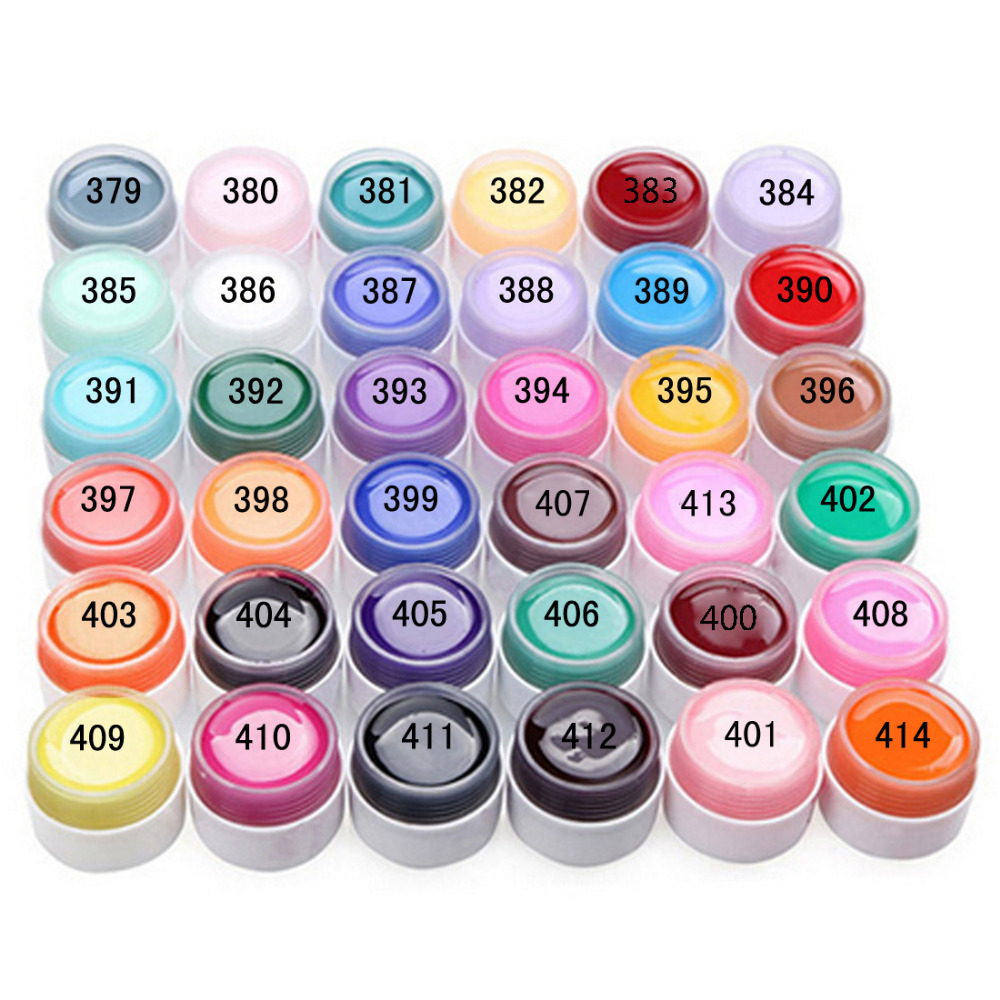 Pure Colors Gel Nail Polish UV Nail Art DIY Decoration for Nail Manicure 36 Pots color