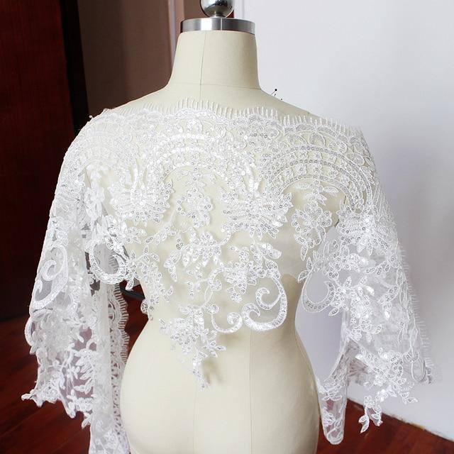 a6f8069cb987 Ciglia paillettes lace trim abito da sposa di lusso del merletto accessori  guarnizioni fai da te