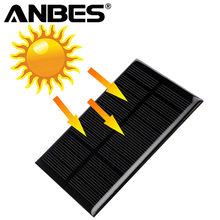 ANBES 5V 1.25W Monocrystalline Silicon Epoxy Solar Panels Module kits Mini Solar Cells For Charging Cellphone Battery 110x69mm