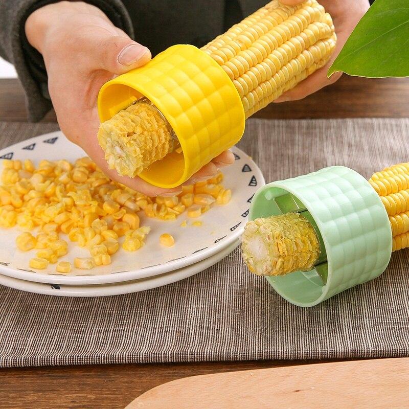 Vanzlife machine à battre le maïs | Éplucheur créatif de jade, machine à creuser le maïs, fournitures utilitaires, séparateur de gadgets de cuisine