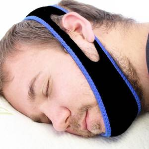 Neoprene Anti Snore Stopper Snoring Chin Strap Belt Anti Apnea Jaw Solution Sleep Support Apnea Belt Sleeping Mouth Guard tool