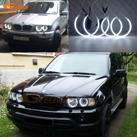 For BMW E53 X5 1999 2004 Excellent Ultra Bright Headlight Illumination CCFL Angel Eyes Kit Halo