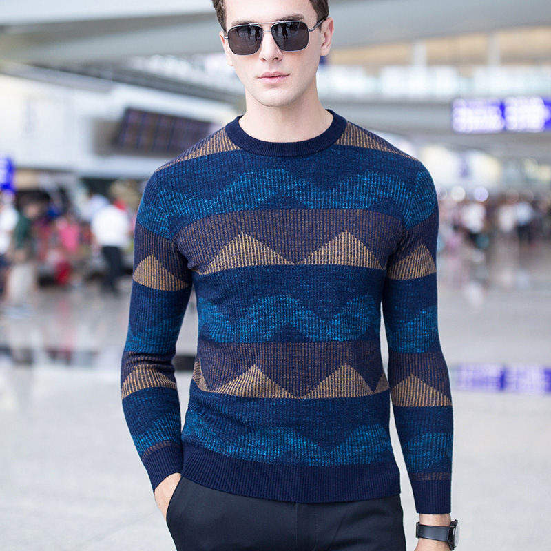 High quality autumn winter men new sale pullovers wool sweater warm business casual fashion designer homme weaters plus size