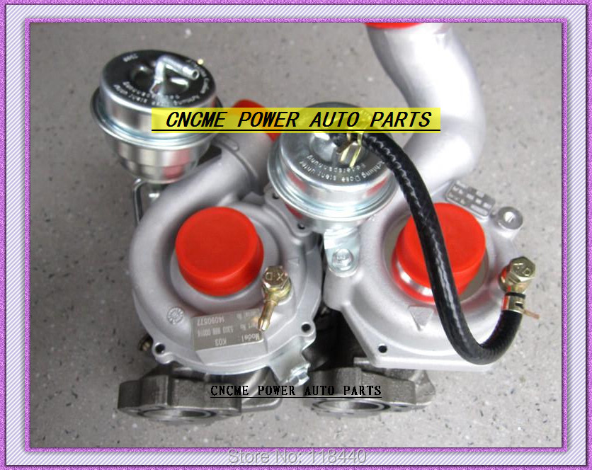 K03 53039880016+53039880017 Twin Turbos Turbocharger For AUDI S4 97-01 A6 99-01 AJK ARE AZB AGB V6 2.7L 265HP (3)