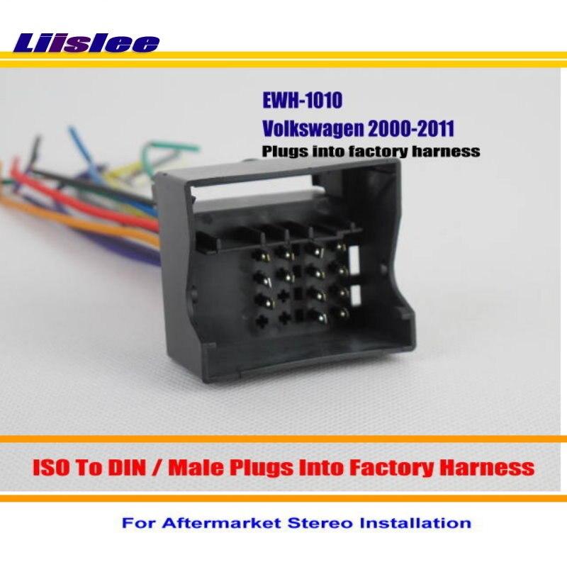 Liislee adaptador de cabo chicote de fios de rádio do carro para audi a3 a4 a6 a8 s4 s6 s8/plugues em kits de instalação estéreo chicote de fios de fábrica