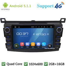 Quad Core 1024*600 8″ Android 5.1.1 Car DVD Video Player Radio Stereo Screen USB DAB+ FM 3G/4G WIFI GPS Map For TOYOTA RAV4 2013