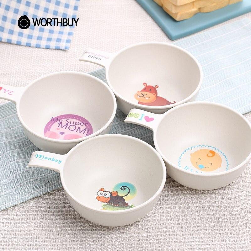 WORTHBUY 4 Pcs/Set Cute Salad Bowl For Kids Cartoon Animal ...  Cute