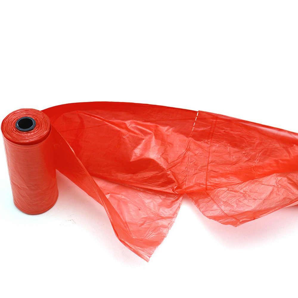 Rolos de 15 1 pcs Cat Dog Poop Bag Degradável Saco de Lixo Para Animais de Estimação Adequado para Todos Os Animais de Estimação Ao Ar Livre Saco De Limpeza Em Casa cor aleatória