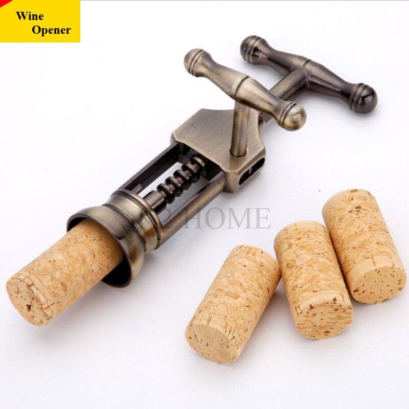 K2 בית רטרו סגסוגת עתיק ברונזה אבץ פותחן בקבוקי יין אדום פקק חולץ פקקים פותחן שמפניה פולר מסיר עם רוטרי מנוף