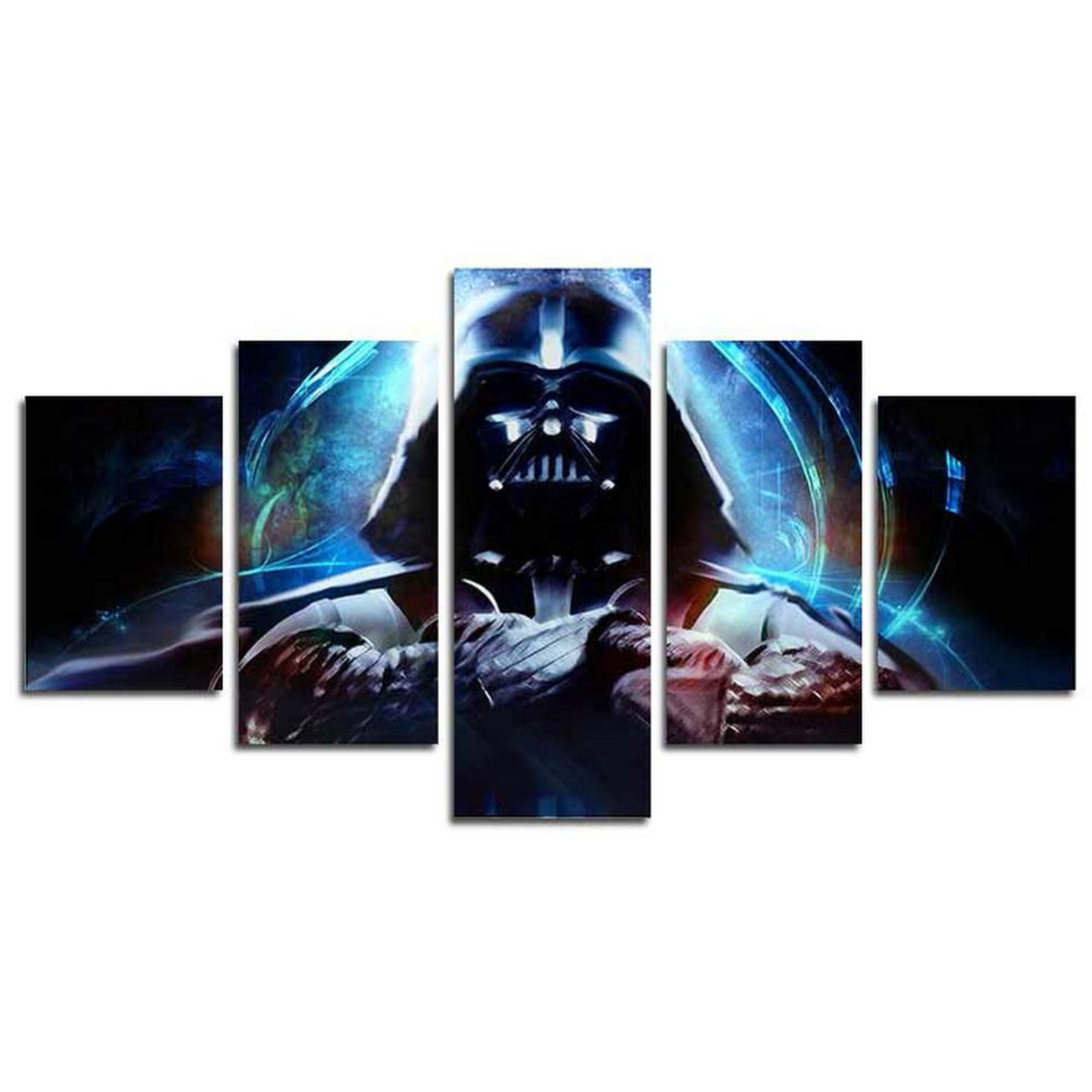 5 panel modern art wall Star Wars movie poster wall decoration painting fine art print on canvas image