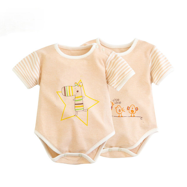 100% Cotton Baby Bodysuit Newborn JumpsuitOveralls Baby Short Sleeve Underwear Boys Girls Pajamas Clothes Climbing SAS-9482