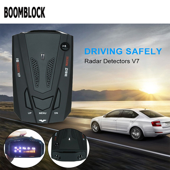 BOOMBLOCK Car Radar Detector Gps Led Light 16 Band Voice Alert For Renault Megane 2 3 Duster Logan Honda Civic 2006-2011 Fit image