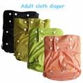 Free que envía 1 unid color llano impermeable adultos pañal de tela pul, reutilizable Y Lavable A Máquina de Pañales para adultos para discapacitados