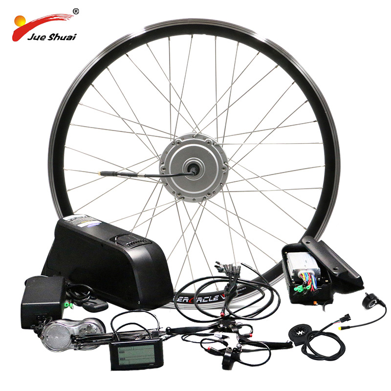 BAFANG Motor Wheel 48V 250W 350W 500W Electric Bike Conversion Kit with 48V 10AH 12AH Lithium Battery 26