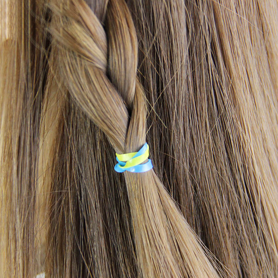 200pcs/pack Rubber Rope Ponytail Holder Elastic Hair Bands Ties Braids Plaits hair clip headband Girls Hair Accessories