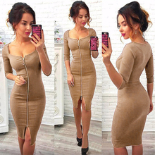 Fashion Vestidos Long Dress Sexy Women Square Neck Half Sleeve Slim Dress Big Size 2018 New Design Bandage Dress Women Clothing